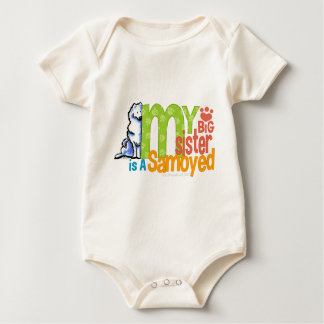 Big Sister Samoyed Baby Bodysuit