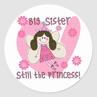 Big Sister Still the Princess Classic Round Sticker