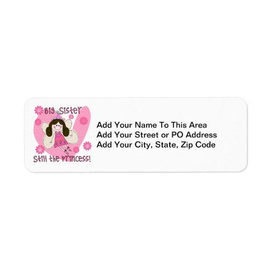 Big Sister Still the Princess Return Address Label