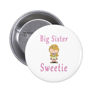 Big Sister Sweetie Blonde Hair Button