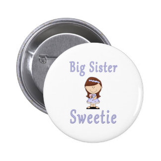 Big Sister Sweetie Red Hair Buttons