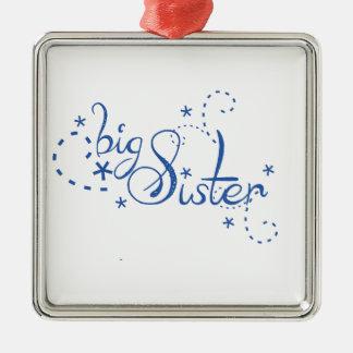 Big Sister Swirl Design Christmas Ornament