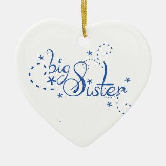 Big Sister Swirl Design Ornament