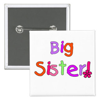 Big Sister T-shirts and Gifts 15 Cm Square Badge