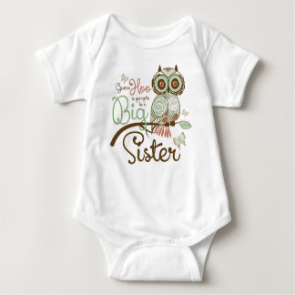 Big Sister To Be Owl Baby Bodysuit