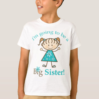 Big Sister To Be Stick Figure T-Shirt