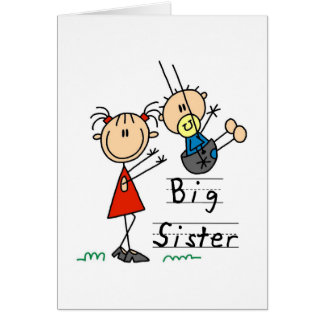 Big Sister with Little Brother Tshirts and Gifts Greeting Cards