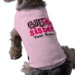 Big Sister Zebra Personalised Dog T Shirt