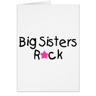 Big Sisters Rock Greeting Card