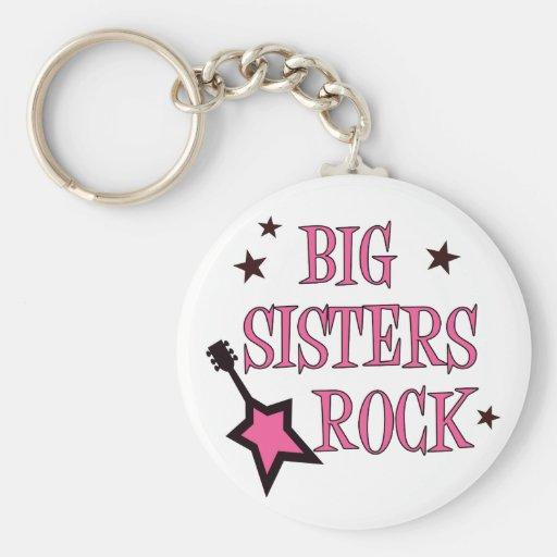 Big Sisters Rock Keychain