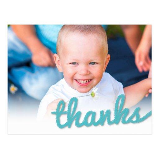 Big Sketch Baby Boy Birthday Thank You Photo Postcard
