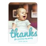 Big Sketch Boy Thank You 1st Birthday Photo Card 9 Cm X 13 Cm Invitation Card