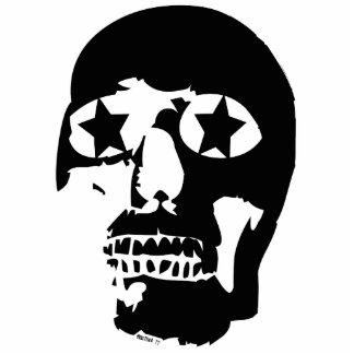 Big Skull Sculpture Keychain Photo Sculpture Key Ring