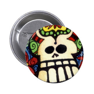 Big Skullie and His Friends Day of the Sugar Skull 6 Cm Round Badge