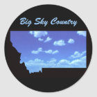 Big Sky Country Classic Round Sticker
