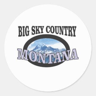 big sky country Montana Classic Round Sticker