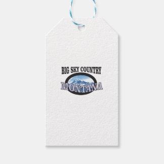 big sky country Montana Gift Tags