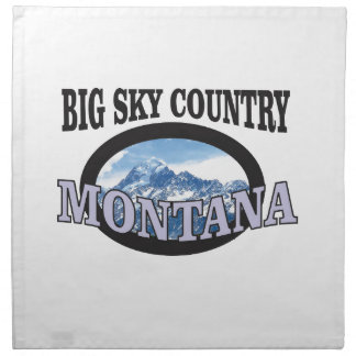 big sky country Montana Napkin