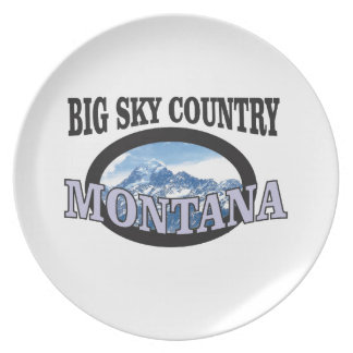 big sky country Montana Plate