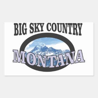 big sky country Montana Rectangular Sticker