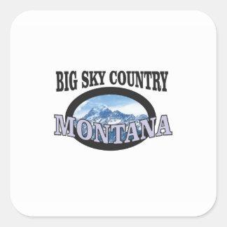 big sky country Montana Square Sticker