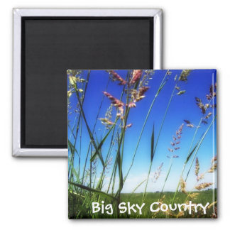 Big Sky Country Square Magnet