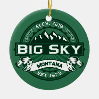 Big Sky Forest Ceramic Ornament