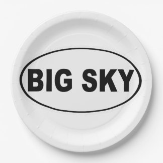Big Sky Montana 9 Inch Paper Plate