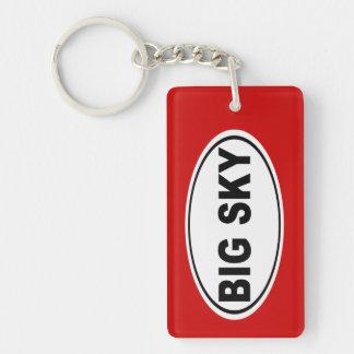 Big Sky Montana Double-Sided Rectangular Acrylic Key Ring