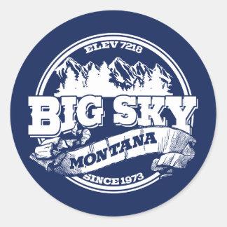 Big Sky Old Circle Blue Round Sticker