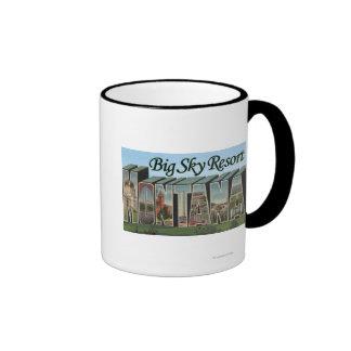 Big Sky Resort, Montana - Large Letter Scenes Coffee Mugs