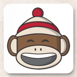 Big Smile Sock Monkey Emoji Coaster