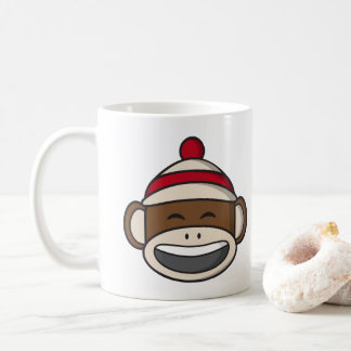 Big Smile Sock Monkey Emoji Coffee Mug