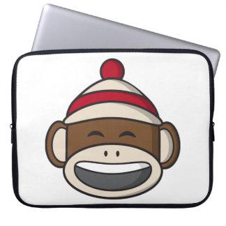 Big Smile Sock Monkey Emoji Laptop Sleeve