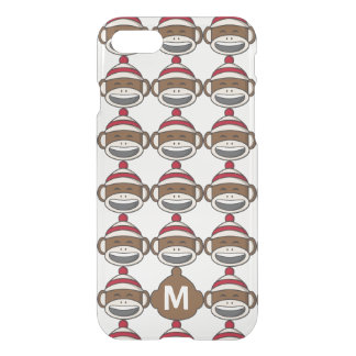 Big Smile Sock Monkey Emoji Monogrammed iPhone 8/7 Case