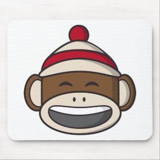 Big Smile Sock Monkey Emoji Mouse Pad