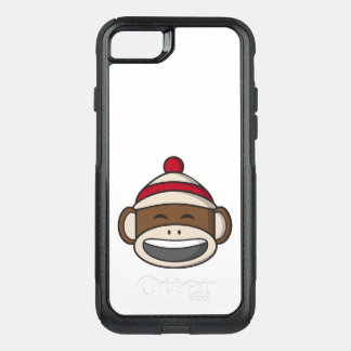 Big Smile Sock Monkey Emoji OtterBox Commuter iPhone 8/7 Case