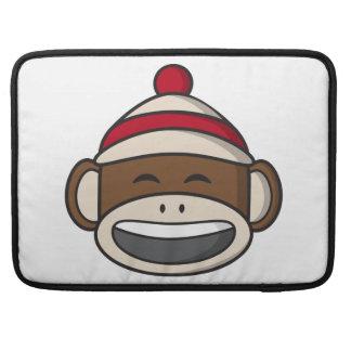 Big Smile Sock Monkey Emoji Sleeve For MacBook Pro