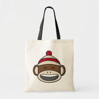 Big Smile Sock Monkey Emoji Tote Bag