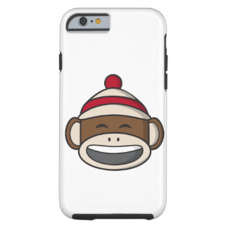 Big Smile Sock Monkey Emoji Tough iPhone 6 Case