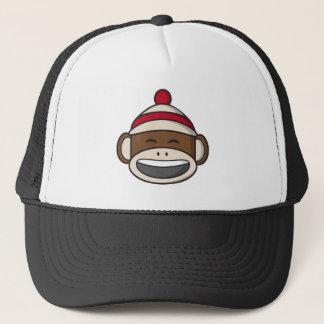Big Smile Sock Monkey Emoji Trucker Hat