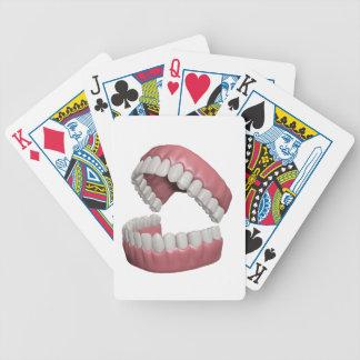 big smile teeth bicycle playing cards