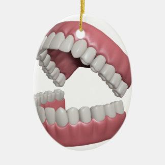 big smile teeth ceramic ornament
