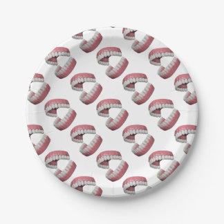 big smile teeth paper plate