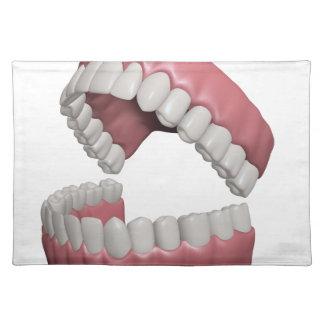 big smile teeth placemat