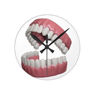 big smile teeth round clock