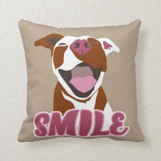 Big Smiles Pitbull - Throw Pillow