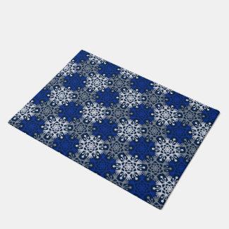 Big Snowflakes Mod Winter Door Mat