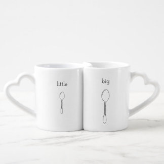 big spoon little spoon coffee mug set