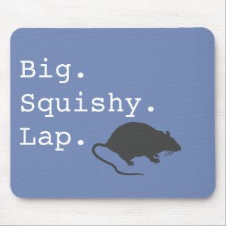 Big Squishy Lap Rat Mouse Pad